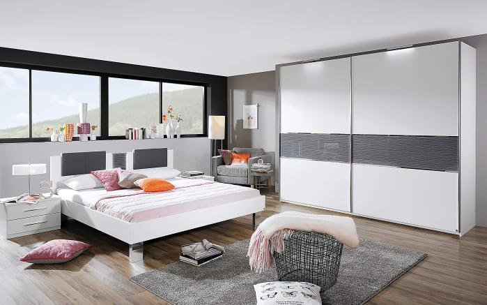 Schlafzimmer Penny in alpinweiß/basalt