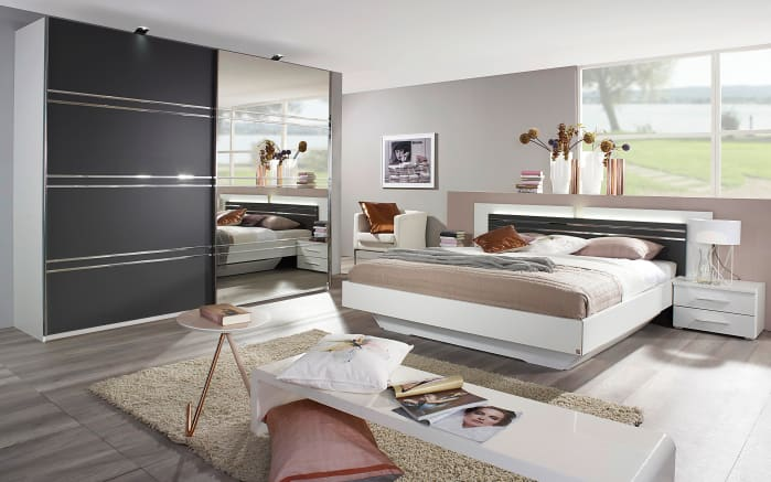 schlafzimmer janny in wei graphit online bei hardeck kaufen. Black Bedroom Furniture Sets. Home Design Ideas