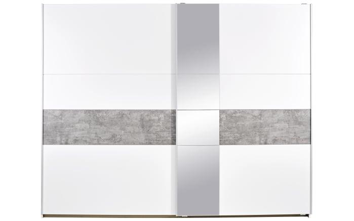 Schwebetürenschrank Korbach in weiß/grau