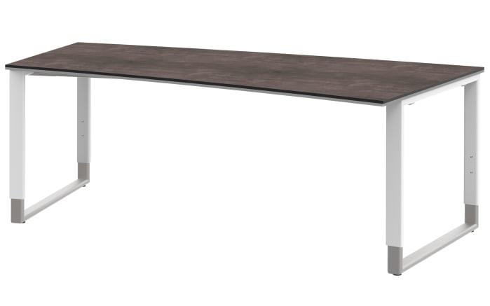 Schreibtisch Objekt Plus in weiß/Platte Quarzit-Optik
