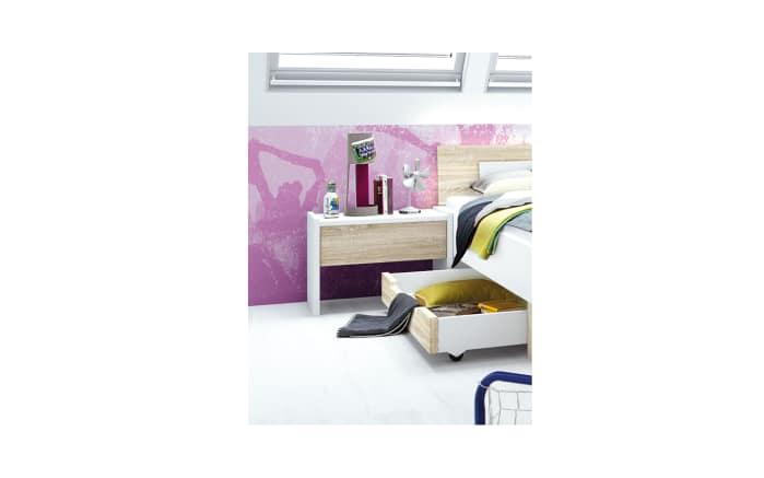 Jugendzimmer Shake 347 in Sonoma-Eiche-Optik/weiß