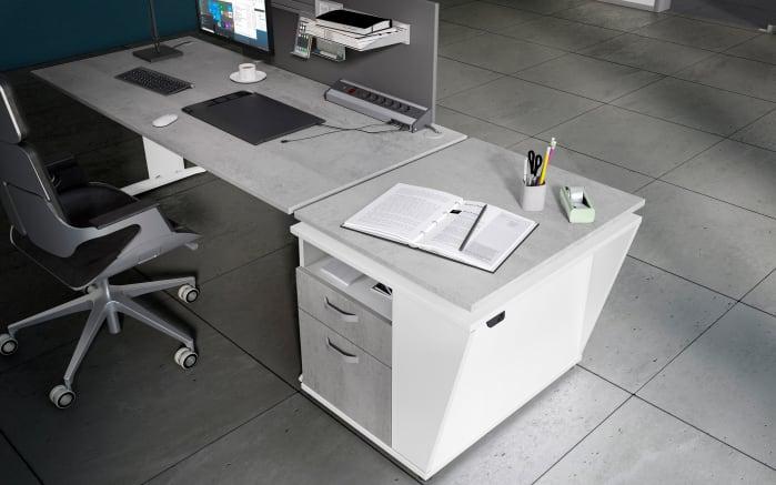Beliebt Schreibtisch Start.now Gestell in weiß/ Platte in Beton-Optik OG11