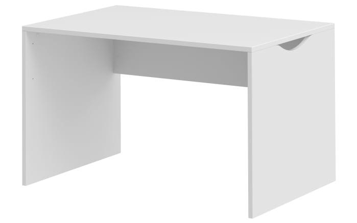 Arbeitsplatz Clip 313 in weiß/Beton-Optik