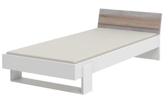 Jugendzimmer Clip 313 in weiß/Beton-Optik