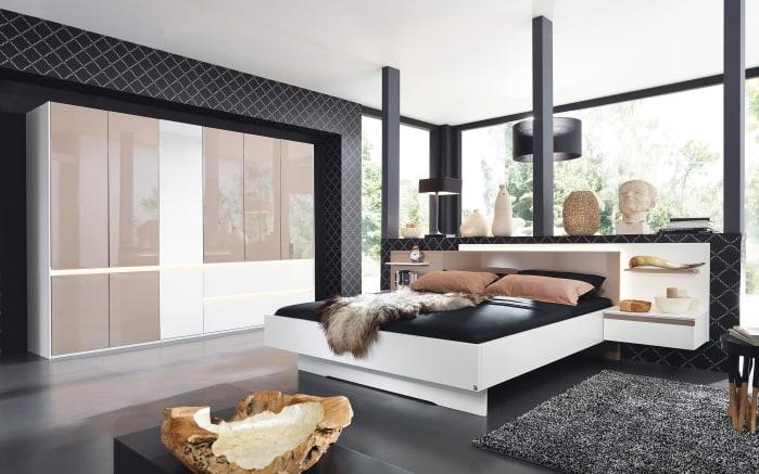 Schlafzimmer Atami in weiß/fango Hochglanz online bei HARDECK kaufen