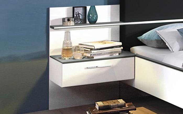 Schlafzimmer Elissa in weiß/graphit