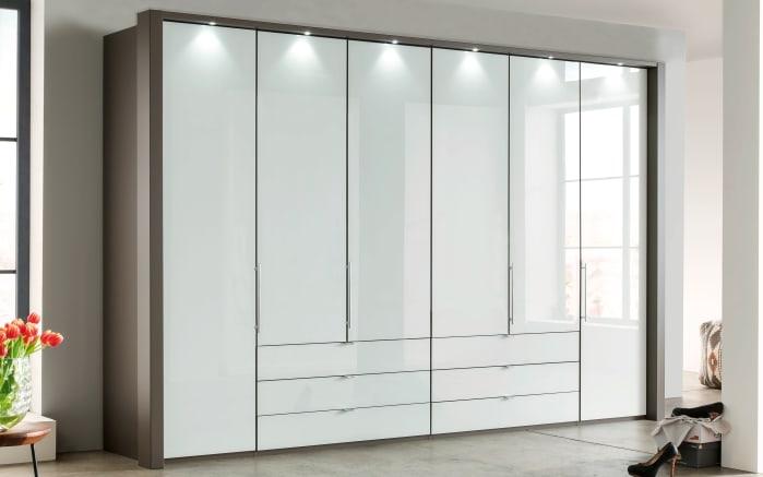 Kleiderschrank Loft in weiß/havanna Dekor