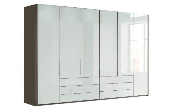 Kleiderschrank Loft in weiß/havanna Dekor-01