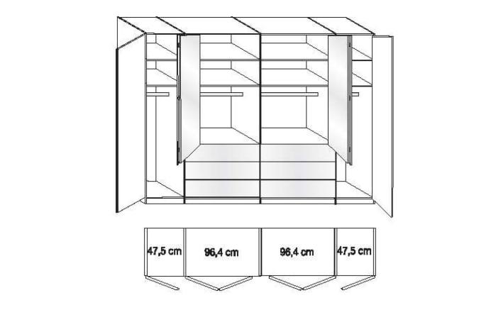 Kleiderschrank Loft in weiß/havanna Dekor-02