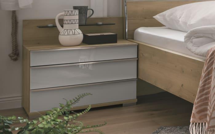 Schlafzimmer Loft in weiß/Bianco Eiche-Nachbildung, Liegefläche 180 x 200 cm, Schrankbreite 300cm -06