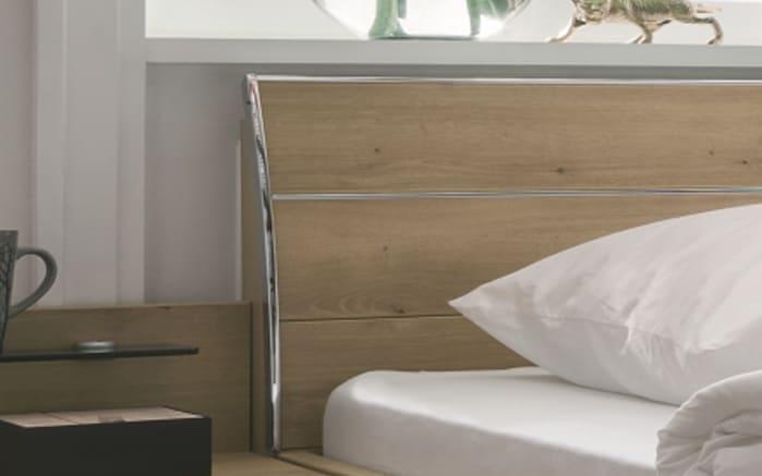 Schlafzimmer Loft in weiß/Bianco Eiche-Nachbildung, Liegefläche 180 x 200 cm, Schrankbreite 300cm -04