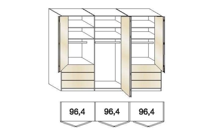 Falttürenkleiderschrank Loft in weiß/Bianco Eiche-Nachbildung-03