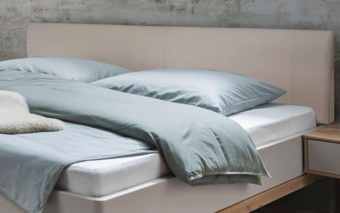 Schlafzimmer Barcelona In Bianco Eiche Optik Farbglas Champagner Ca 160 X 200 Cm Online Bei Hardeck Kaufen