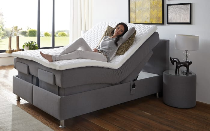 motor boxspringbett comfort in grau online bei hardeck kaufen. Black Bedroom Furniture Sets. Home Design Ideas
