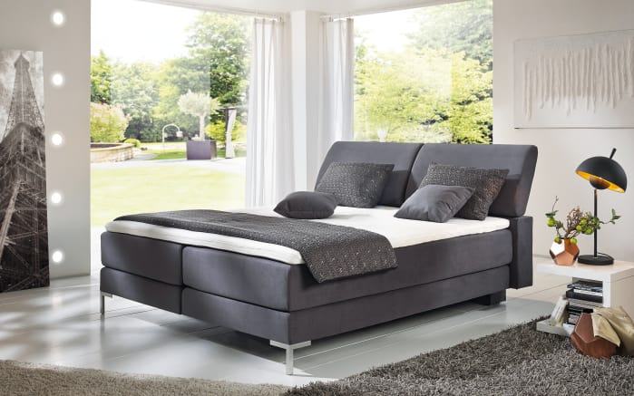 boxspring bett hohes kopfteil top produktbild sam berlin mit in with boxspring bett hohes. Black Bedroom Furniture Sets. Home Design Ideas