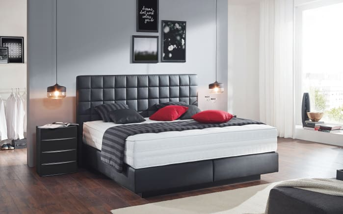 Boxspringbett Prodomo First Class in anthrazit