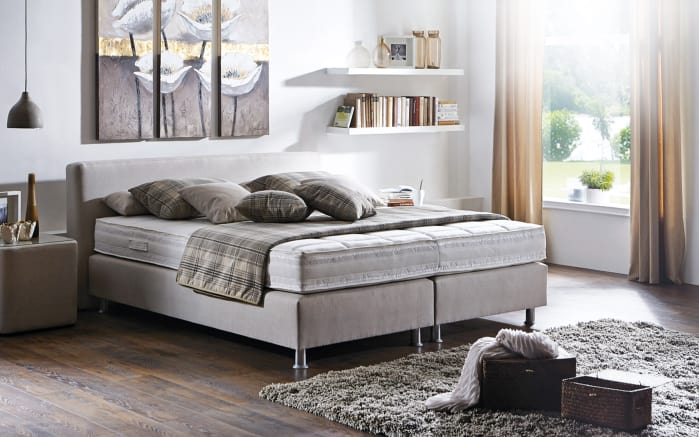 boxspringbett prodomo basic in beige online bei hardeck kaufen. Black Bedroom Furniture Sets. Home Design Ideas