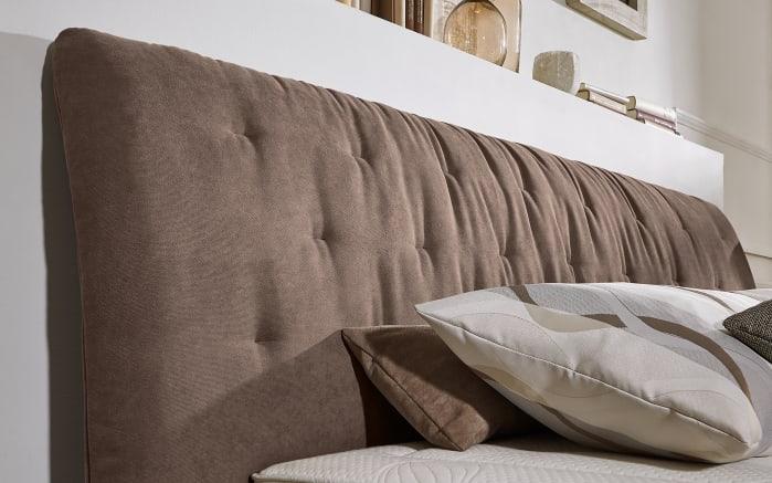 Boxspringbett Prodomo-Comfort in Billie nougart, Liegefläche ca. 180 x 200 cm, Matratzen Härtegrad 2 und Härtegrad 3-02