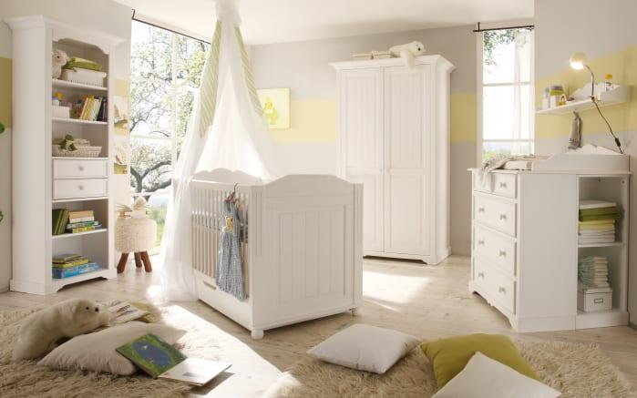 Kleiderschrank Cinderella Premium in Kiefer weiß lackiert massiv, Breite ca. 122 cm