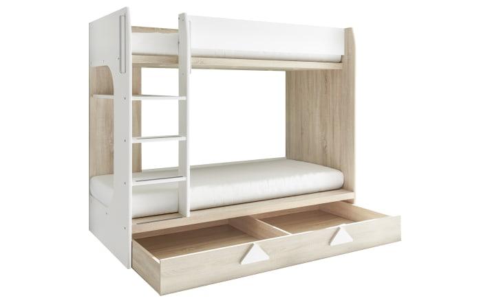 Etagenbett Maja in weiß/Eiche Sonoma-Nachbildung-03