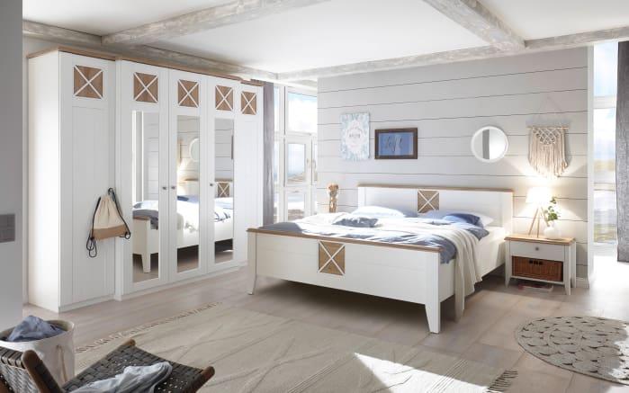 Schlafzimmer Siena Dekorfolie weiß/Riviera Eiche-Optik online bei ...