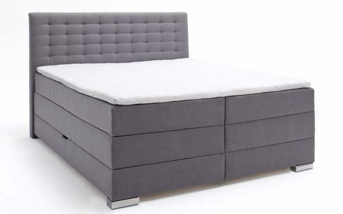 Boxspringbett Lenno in grau mit Bettkasten