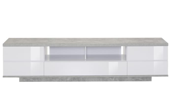 TV-Lowboard in Betonoptik/weiß