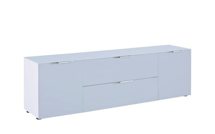 Lowboard Trend in weiß matt/seidengrau matt