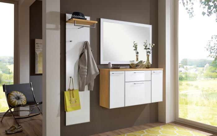 Garderobenpaneel Ventina in weiß/eiche bianco