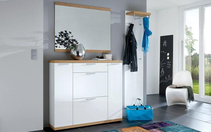 Garderobenpaneel Burgos in weiß/Wildeiche