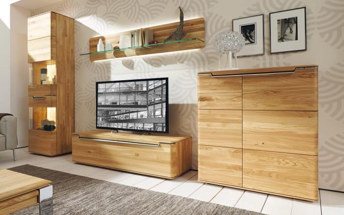 wohnwand vedua in natureiche massiv online bei hardeck kaufen. Black Bedroom Furniture Sets. Home Design Ideas