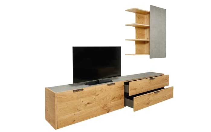 wohnwand fena in balkeneiche furniert online bei hardeck kaufen. Black Bedroom Furniture Sets. Home Design Ideas