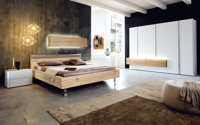 schlafzimmer gentis in wei eiche naturstamm online bei. Black Bedroom Furniture Sets. Home Design Ideas