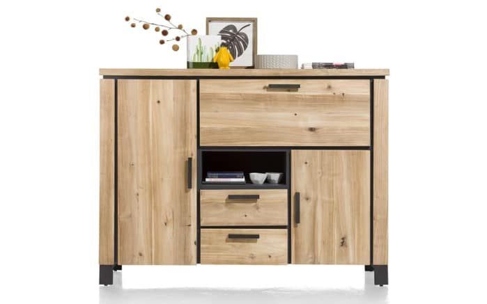 Highboard La Cruz aus Akazie Tramwood smoked