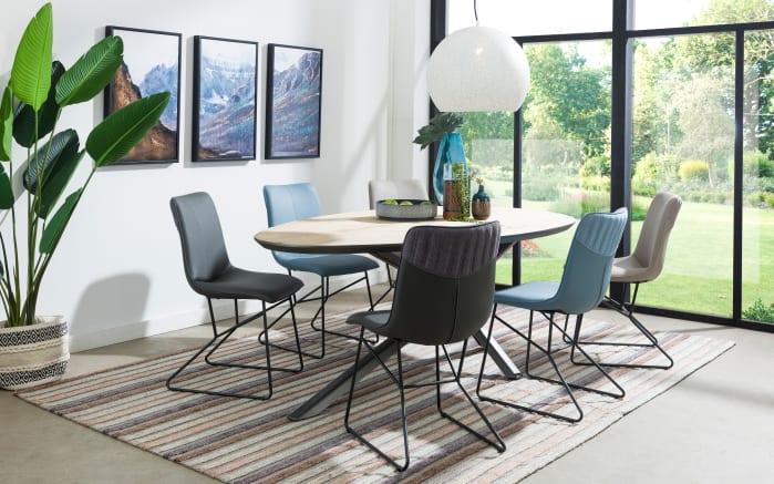 Stuhlgruppe Luke/Hadios aus Eiche/anthrazit