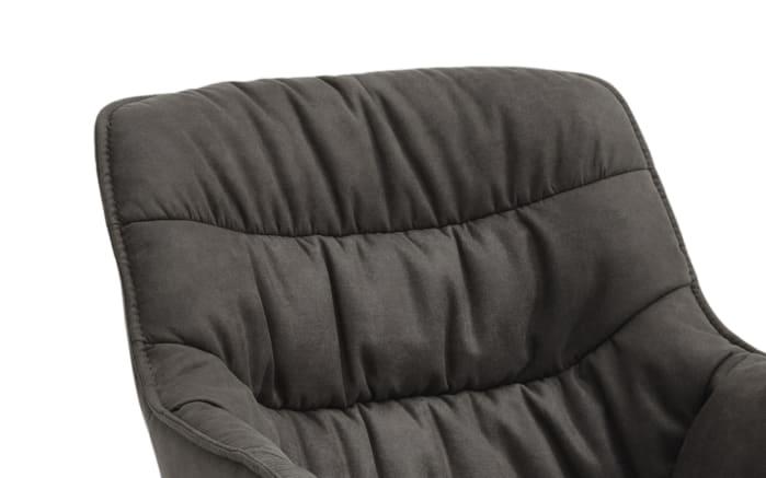 Sessel Fluffy in graphit, mit schwarzem Kufengestell aus Eisen-04