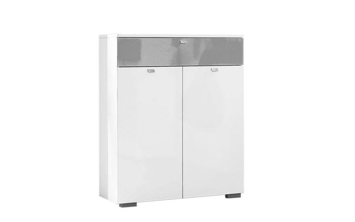Garderobenschrank Una in weiß/grau