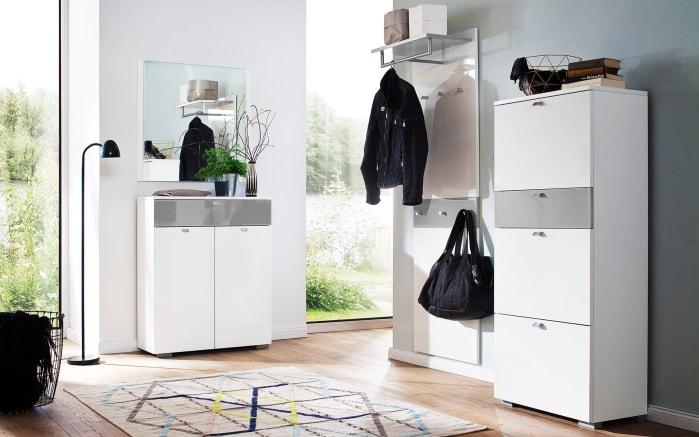 Garderobenpaneel Una in weiß/grau