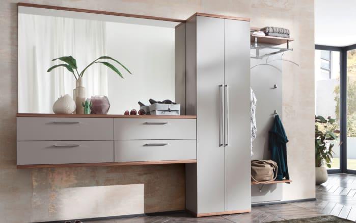 Spiegel Come In in graubeige/Wildeiche, 161 x 102 cm