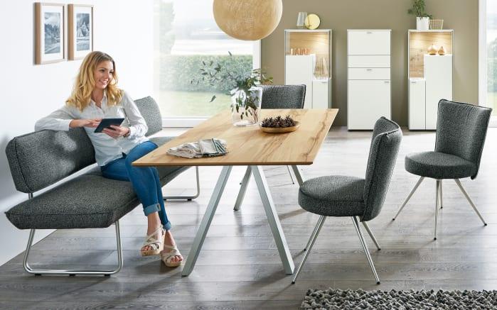 Bank-/Stuhlgruppe Impuls in anthrazit/Eiche furniert-01