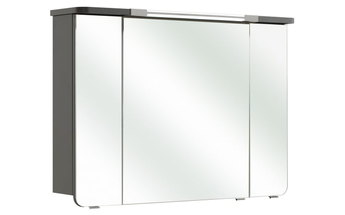 Spiegelschrank Cassca in anthrazit seidenglanz