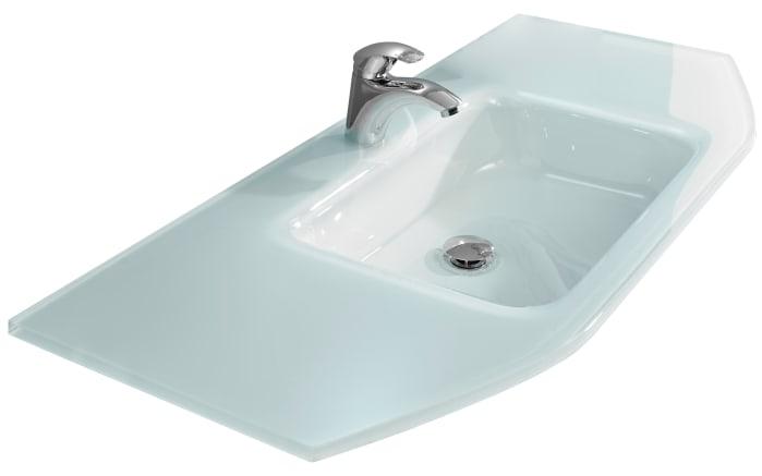 Glas-Waschtisch Alika in weiß