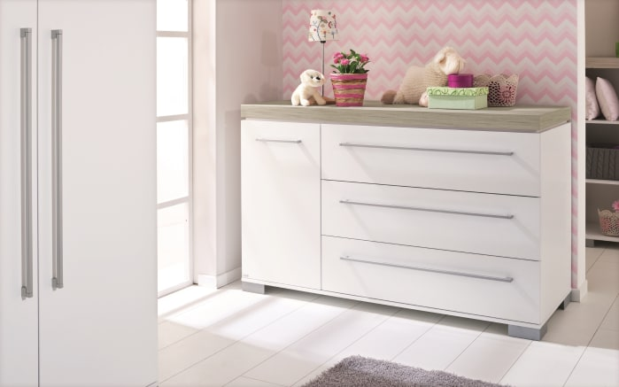 Babyzimmer Kira in kreideweiß/Eiche-Nautik-Nachbildung-04