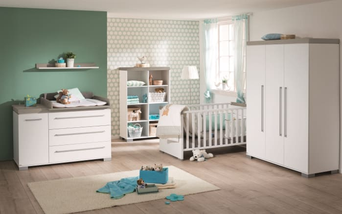 Babyzimmer Kira in kreideweiß/Eiche-Nautik-Nachbildung-01