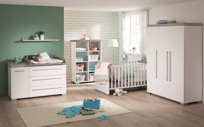 Kinderbett Kira in kreideweiß/Eiche-Nautik-Nachbildung-02