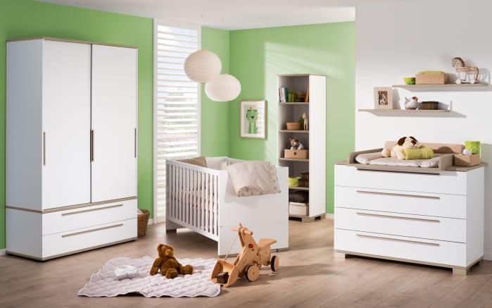 Babyzimmer Carlo in kreideweiß/Fichte-Vintage-Nachbildung