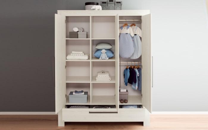 Kleiderschrank für Babyzimmer Laslo in Nordic Wood-Optik