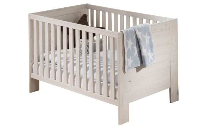 Kinderbett für Babyzimmer Laslo in Nordic Wood-Optik