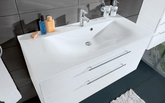 Badeinrichtung WOW in polarweiß Hochglanz/weiß matt