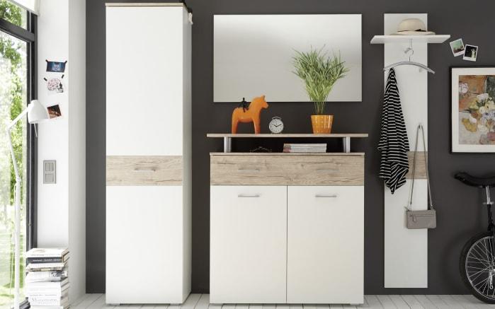 Garderobenkombination Lift in San-Remo-Eiche-Optik/weiß